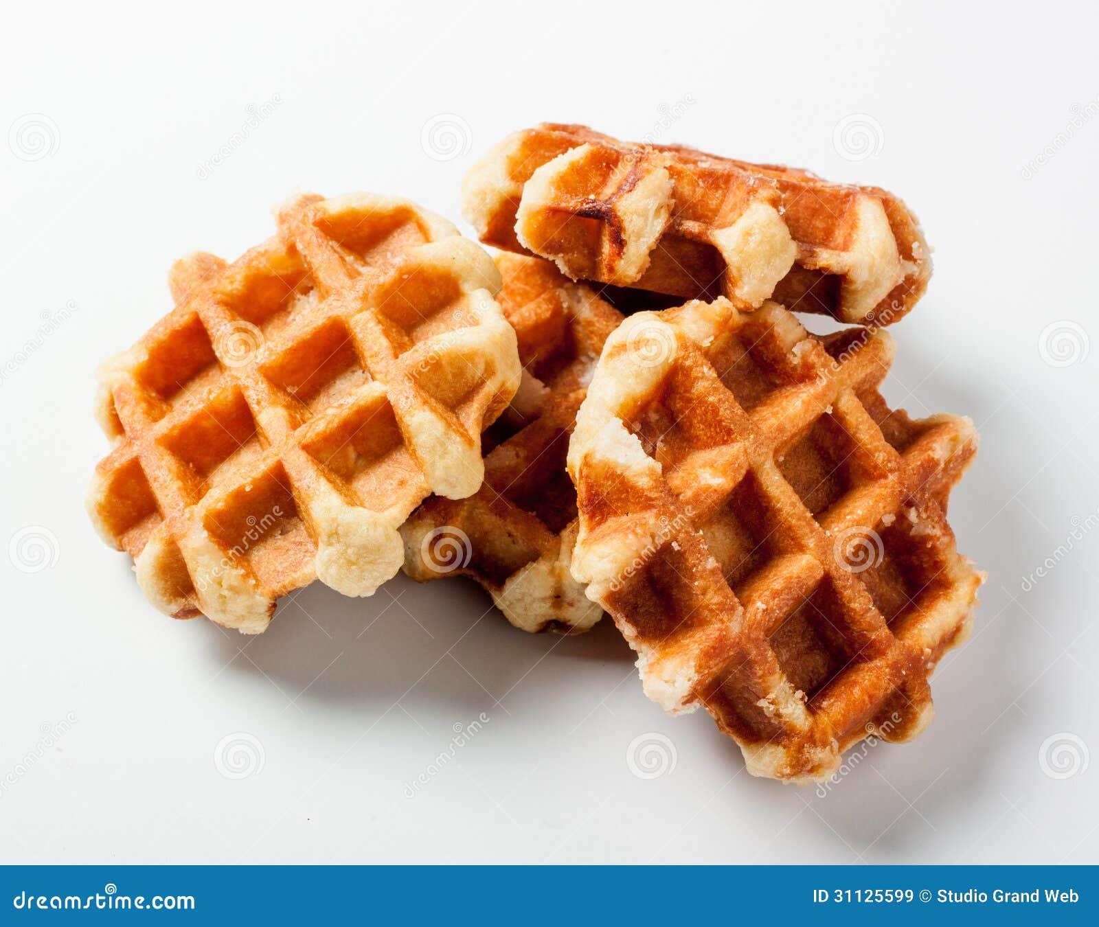 Belgian Waffles For Dessert Royalty Free Stock Images - Image ...