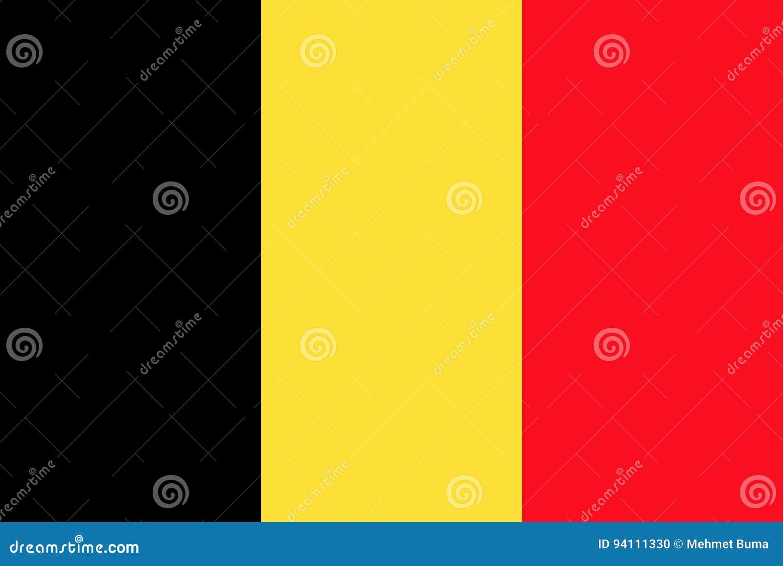 Belgische vlag, vlakke lay-out, illustratie