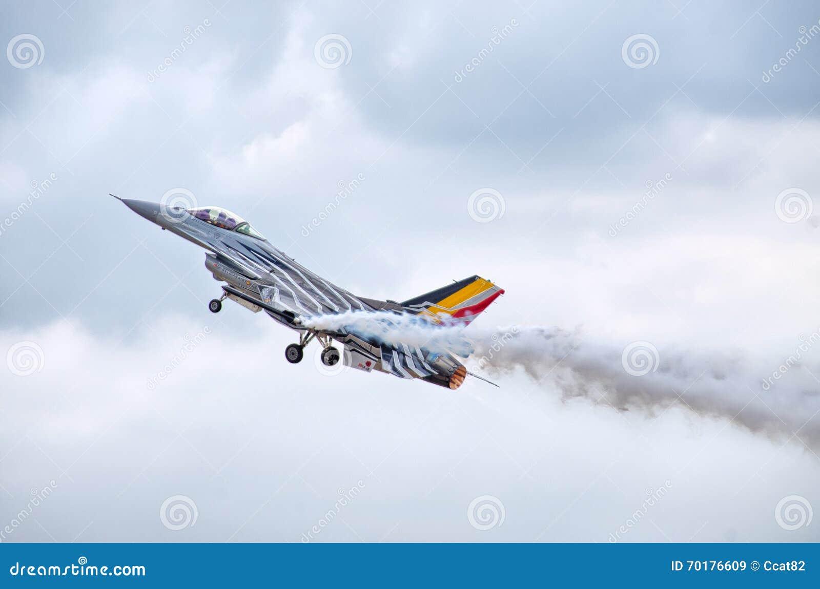Belgisk figter F-16 på Radom Airshow, Polen