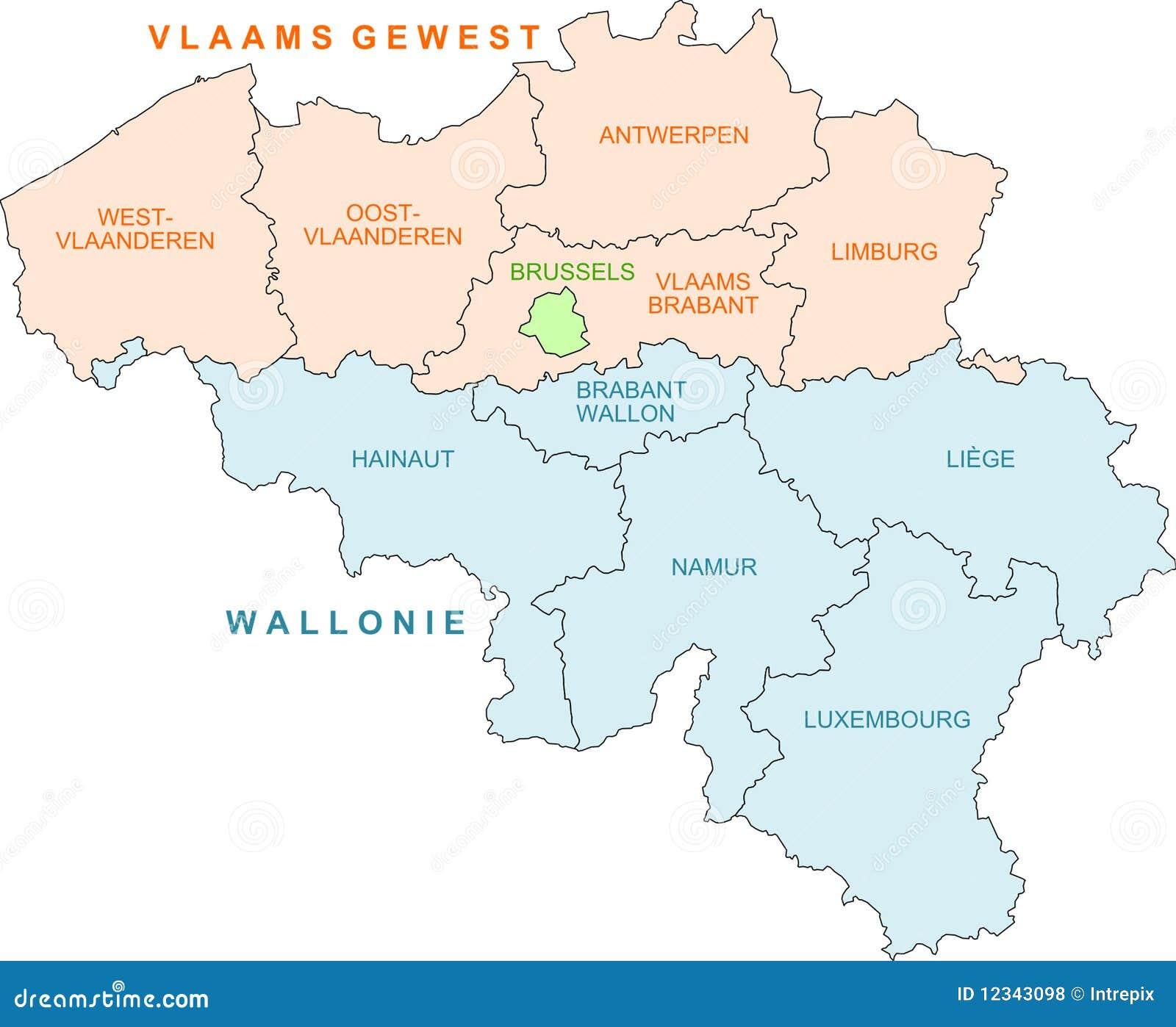 Belgium Map Royalty Free Photos Image 12343098 – Belgiummap