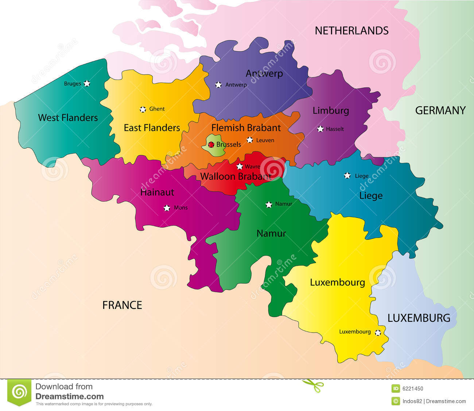 Belgium Map Photo Image 6221450 – Belgiummap