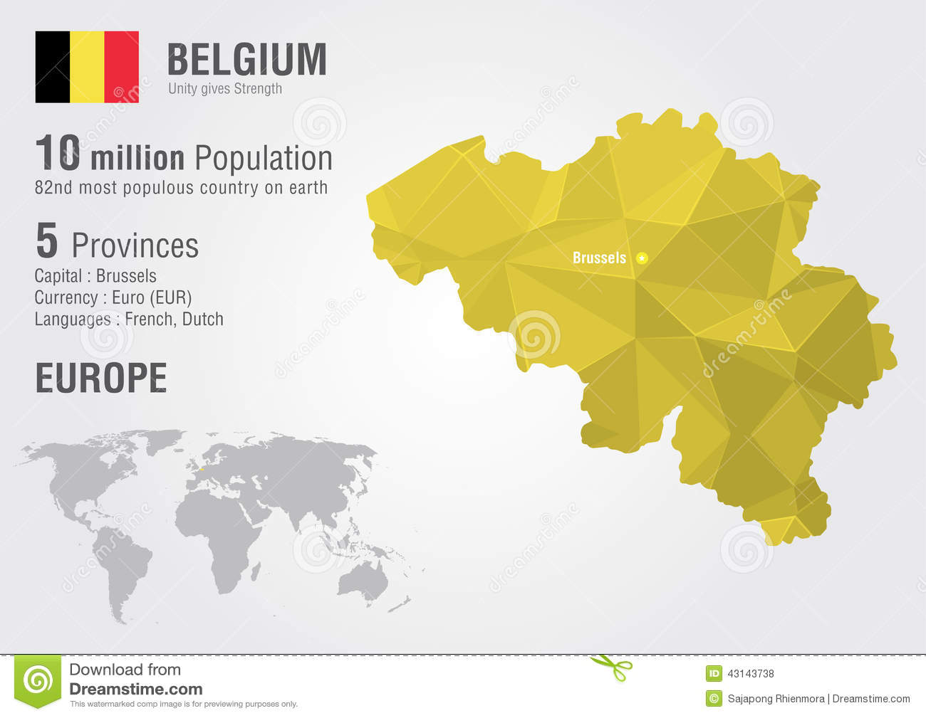 Maps Update 20001193 Belgium World Map Belgium location on the – Belgium on a World Map
