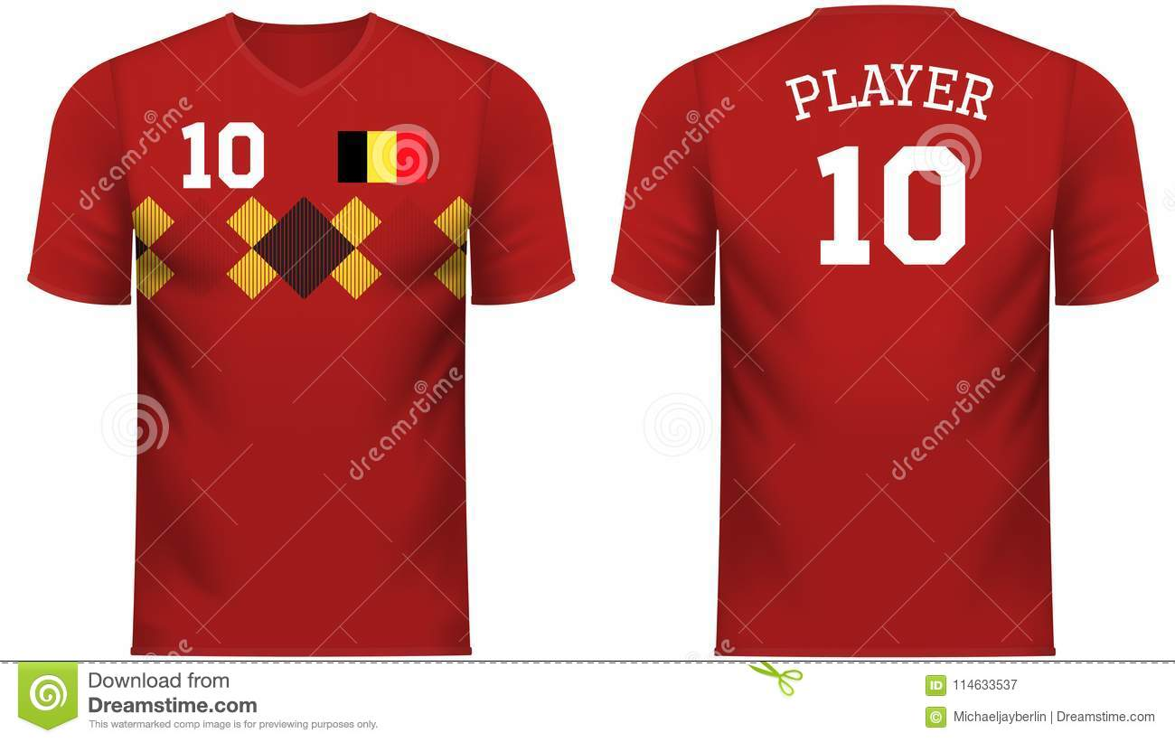 5d2a5d1b0 Belgium national soccer team shirt in generic country colors for fan apparel .