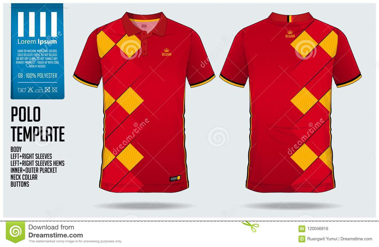 cc5ec68eb Belgium Team Polo T-shirt Sport Template Design For Soccer Jersey ...