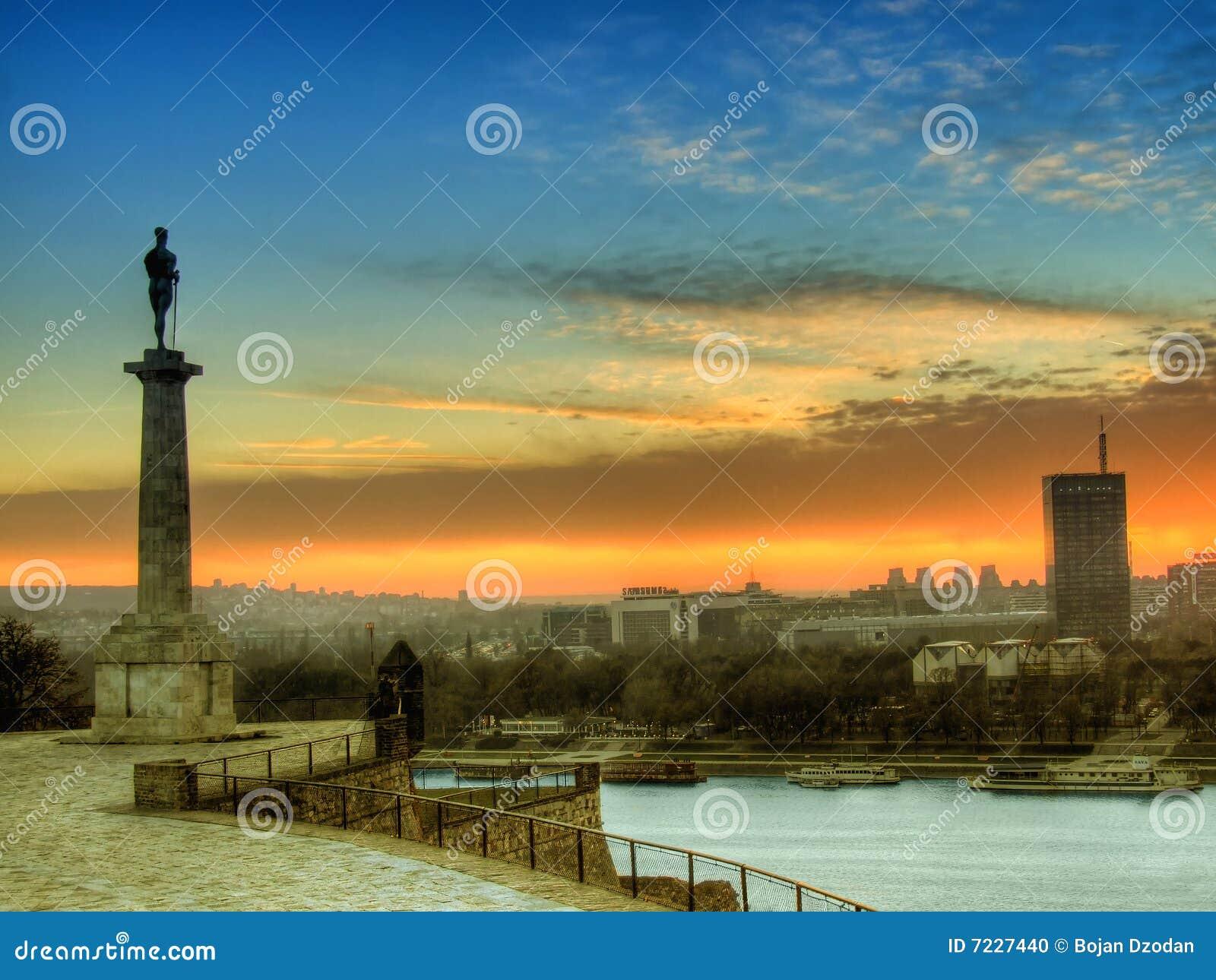 Belgrad am Sonnenuntergang