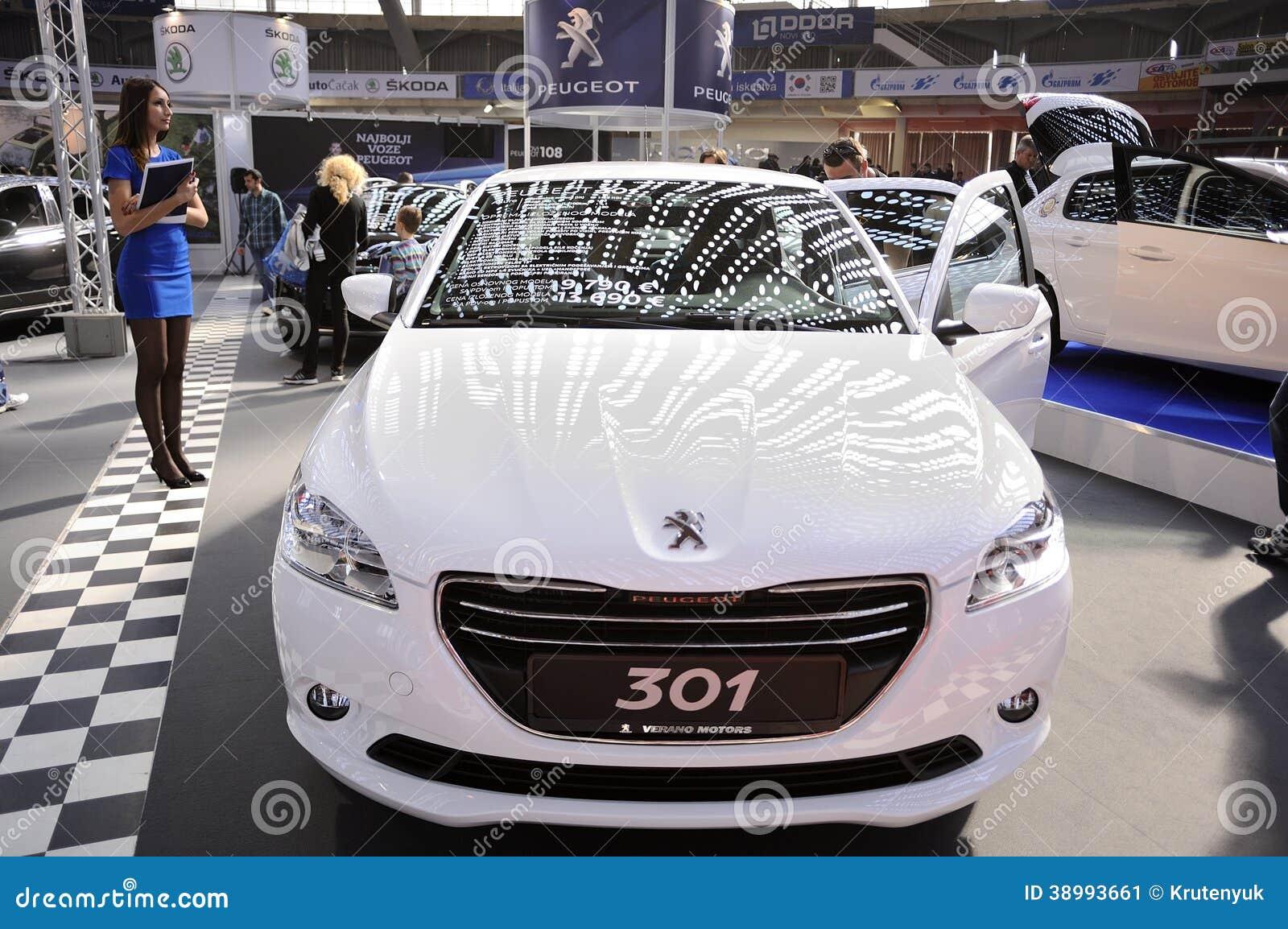 Peugeot At Belgrade Car Show Editorial Photo