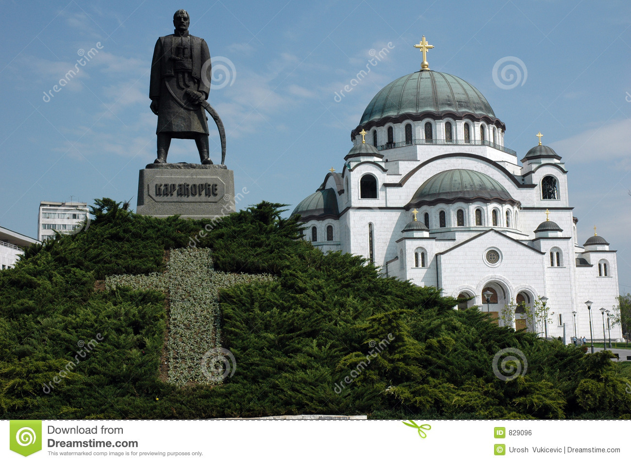 Download Belgrade landmarks stock photo. Image of monument, tradition - 829096