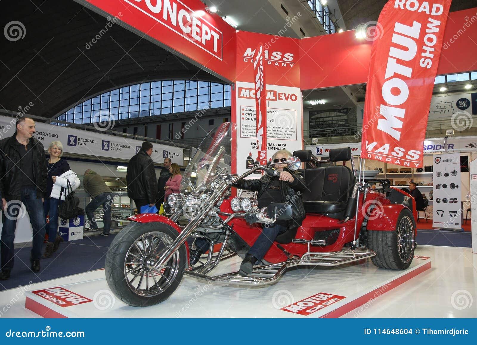 Motul At Belgrade Car Show Editorial Stock Image Image Of Trike - Car show wheel stands