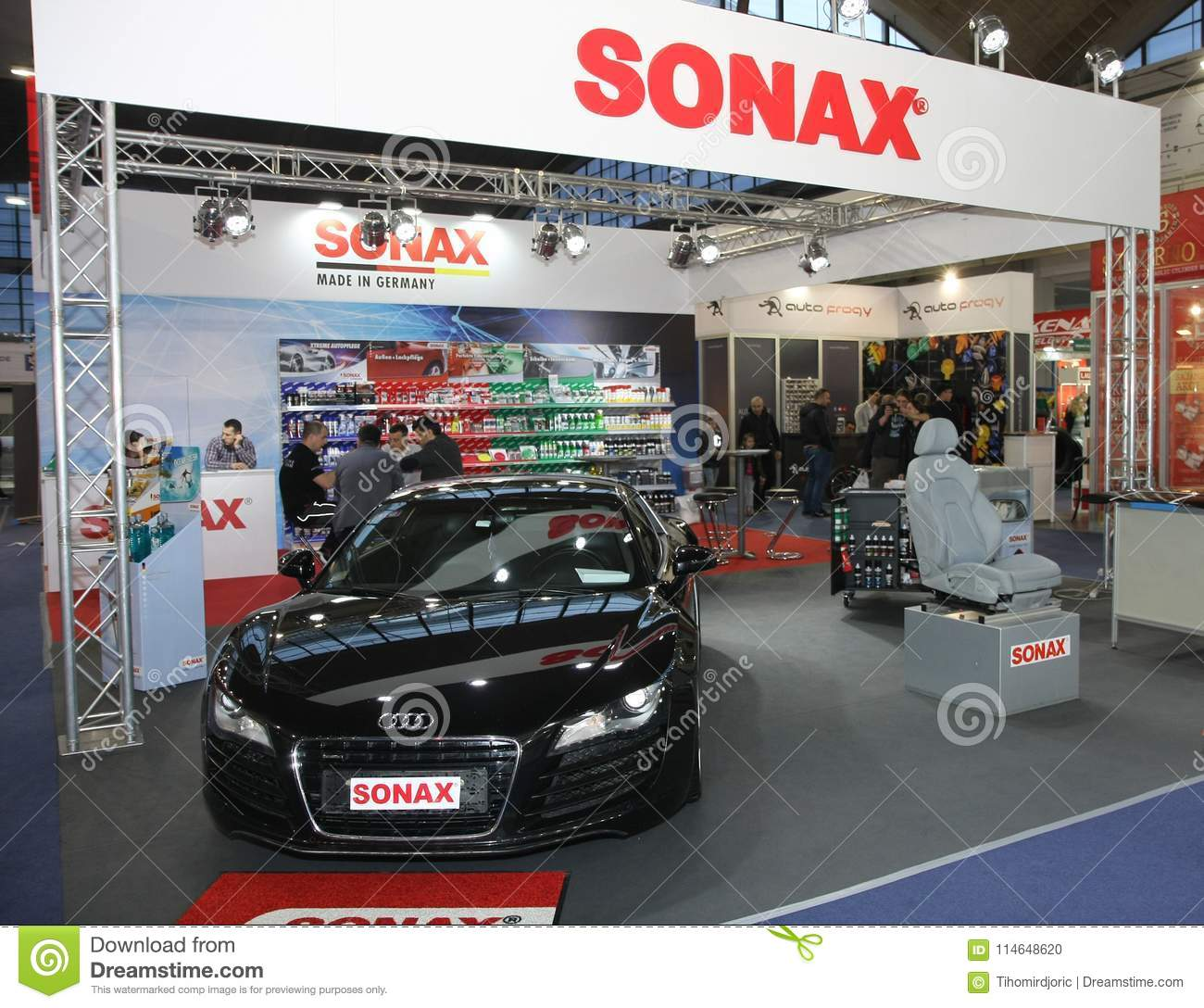 Sonax At Belgrade Car Show Editorial Image Image Of Products