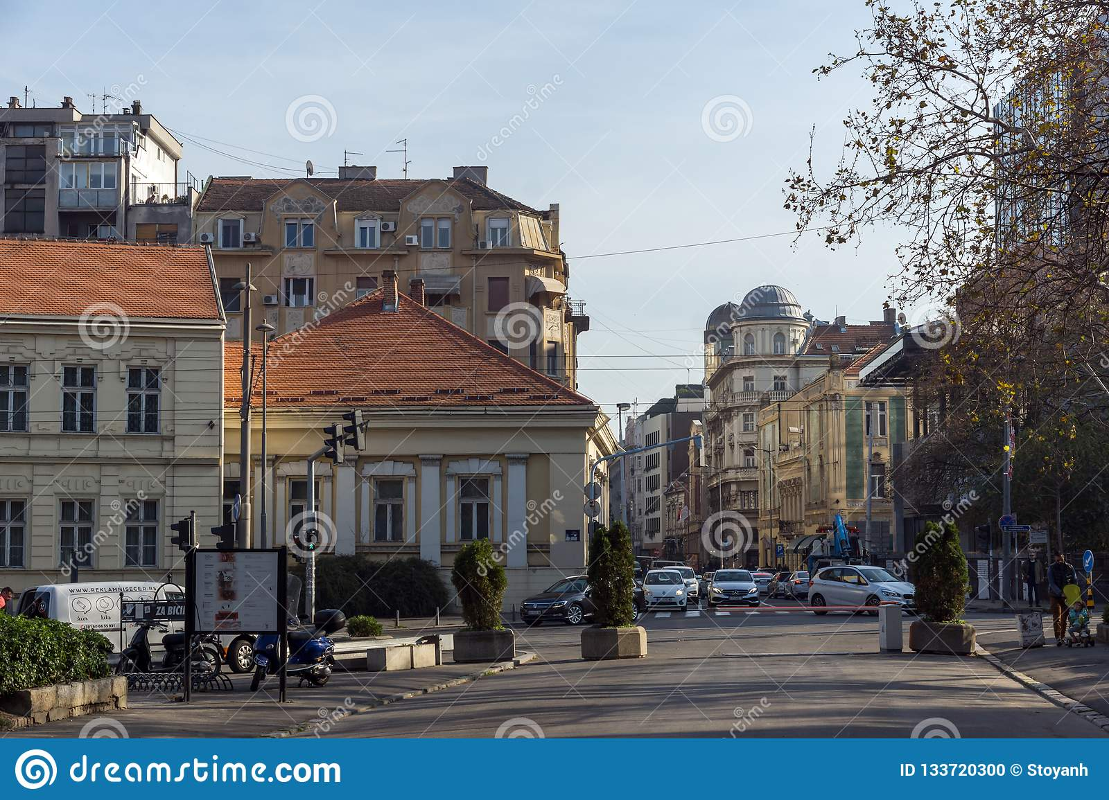 Typical Building in the center of city of Belgrade, Serbia