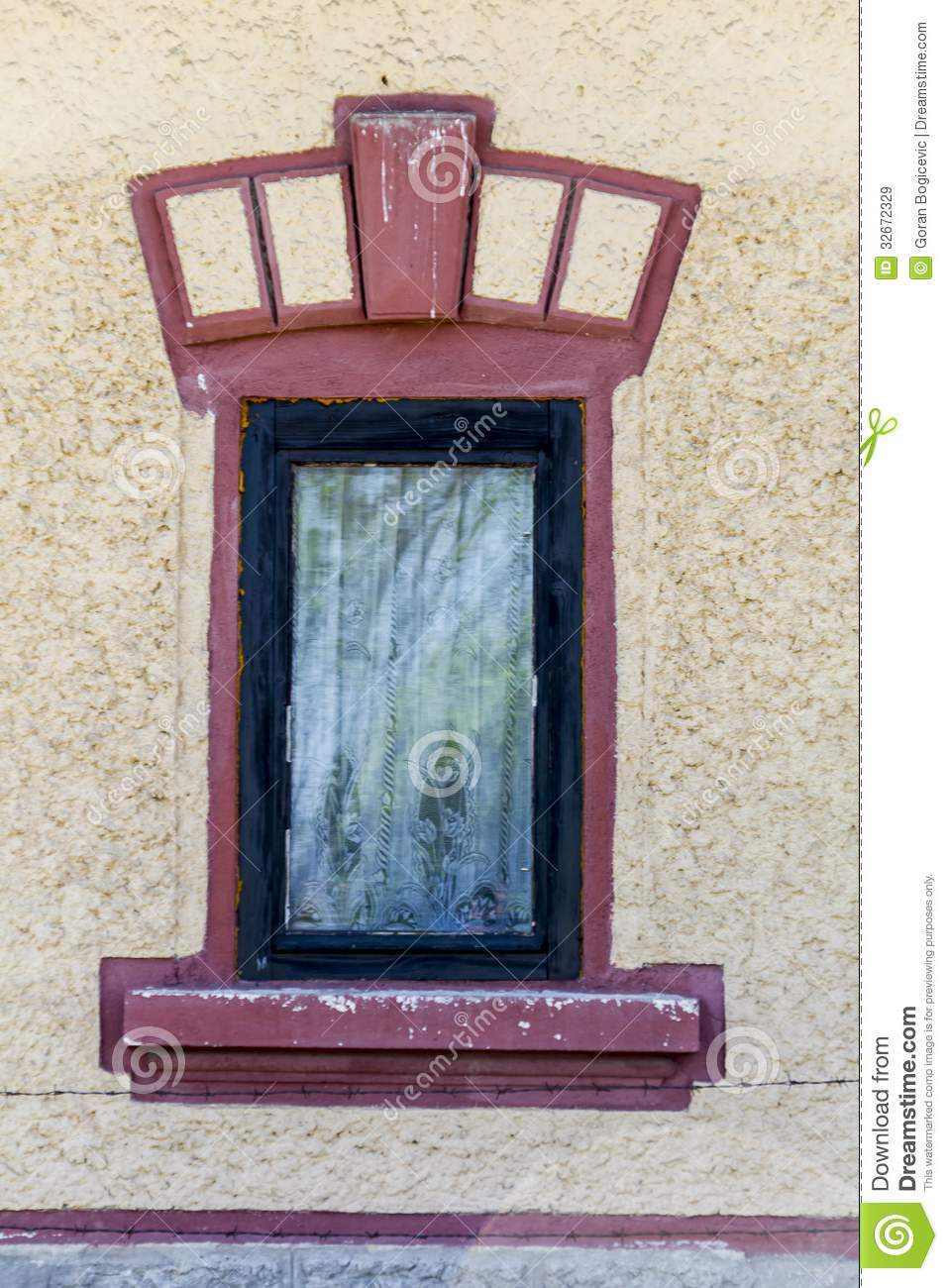 Closed Window Frame : Belgrade window royalty free stock images image