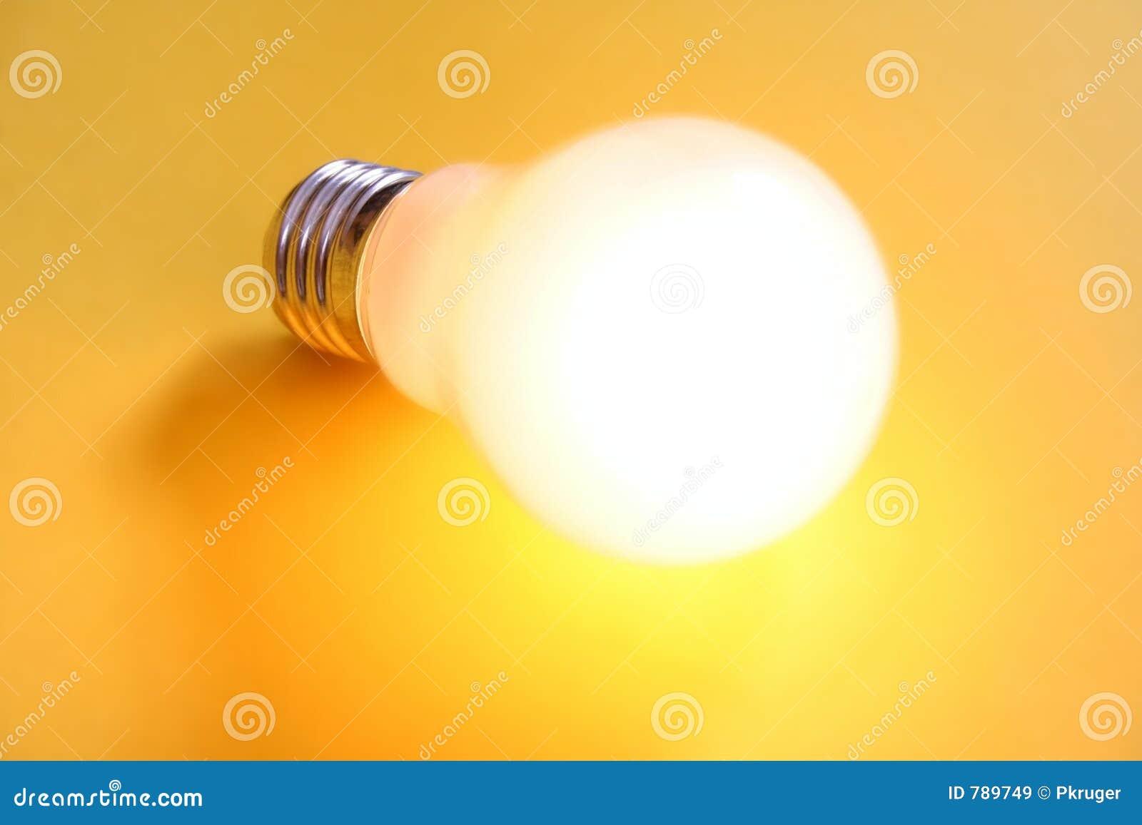 Belichtete Glühlampe