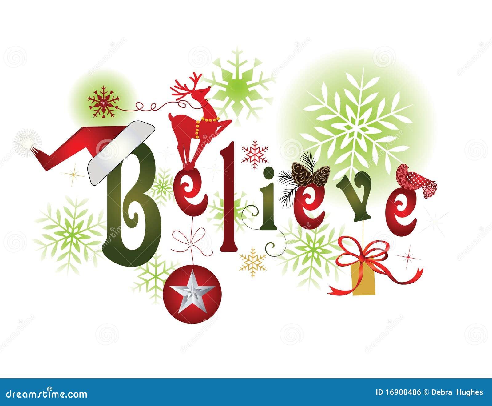Christmas Believe Snow Globe Stock Image - Image: 21269111