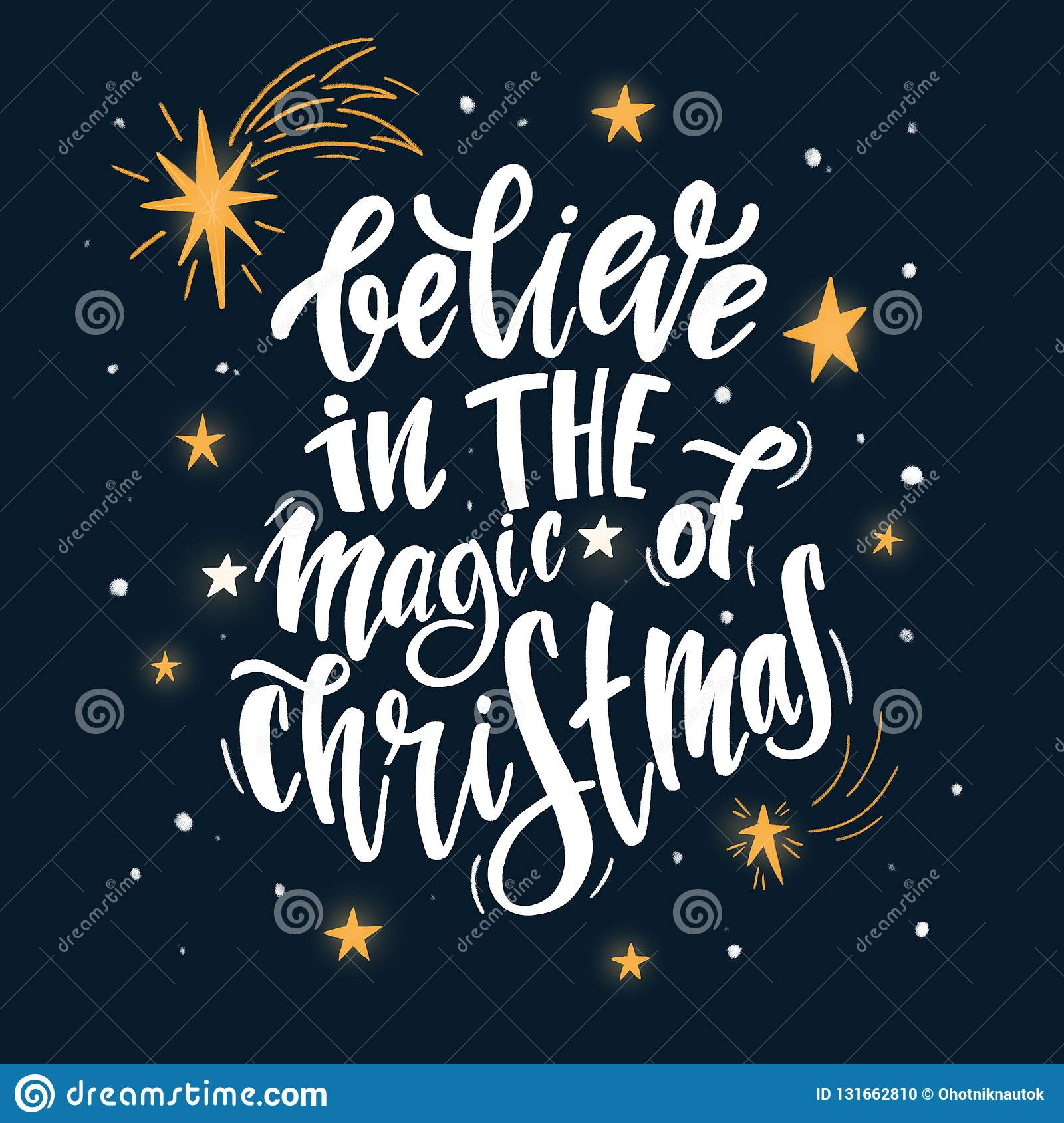 Magic Of Christmas.Believe In The Magic Of Christmas Stock Illustration