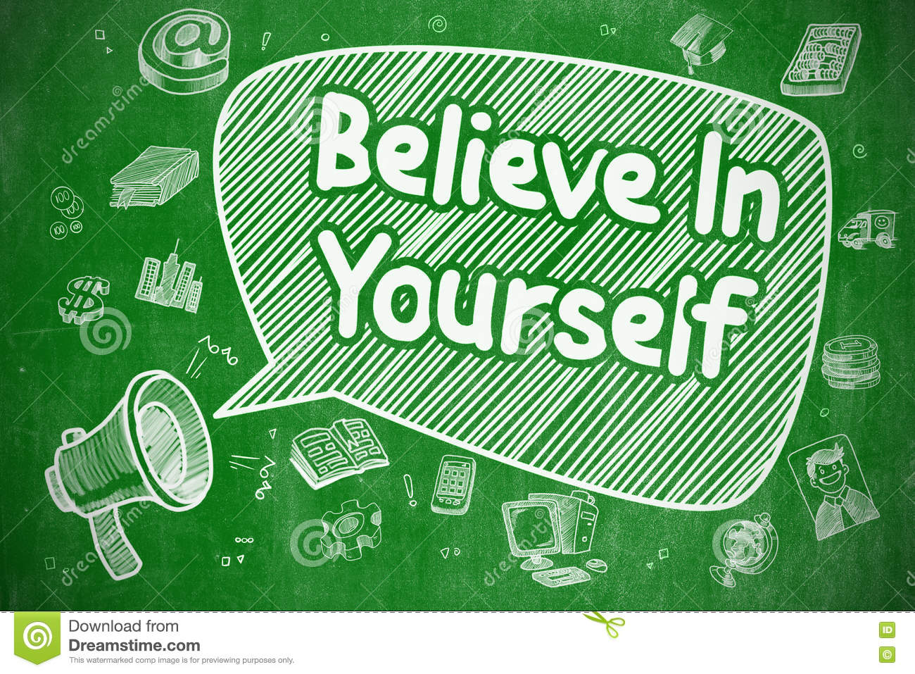 Believe In Yourself - Business Concept  Stock Illustration