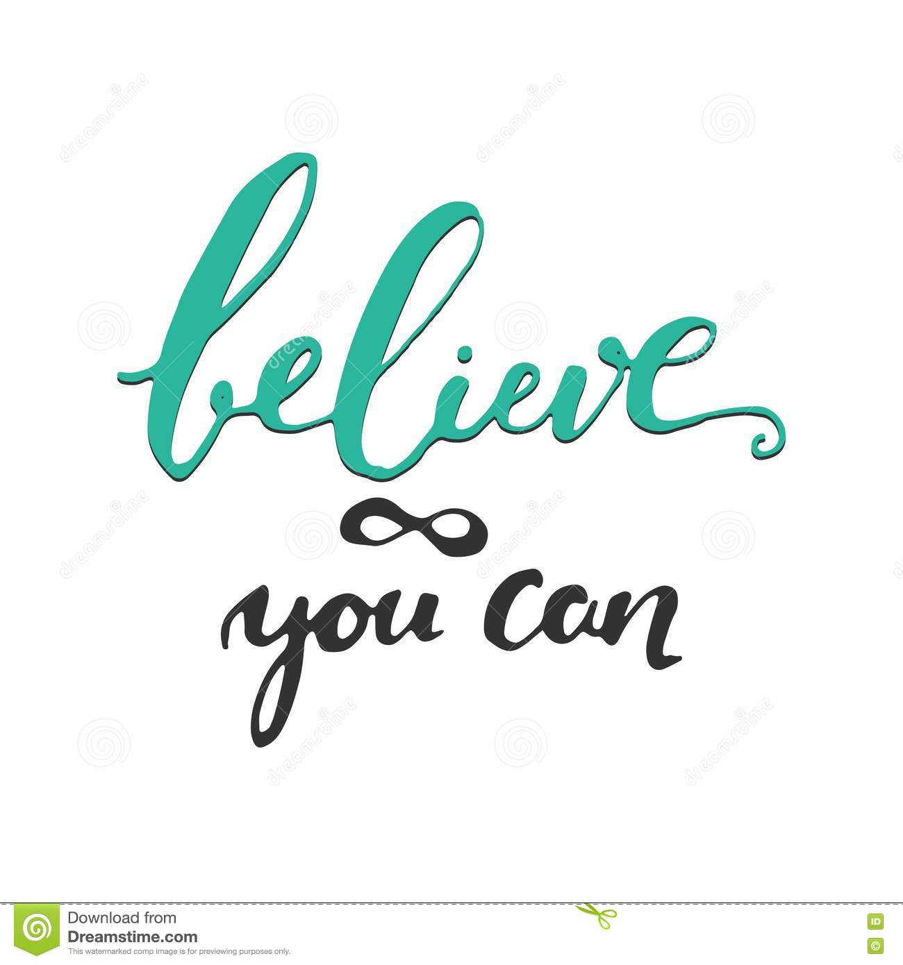 Believe In Yourself Inspirational And Motivation Quote Stock Vector