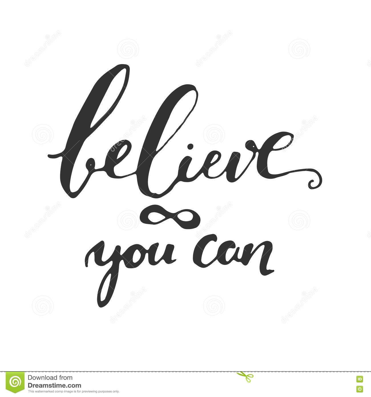 Attractive Believe In Yourself. Inspirational And Motivation Quote For Fitness, Gym.  Modern Calligraphic Style