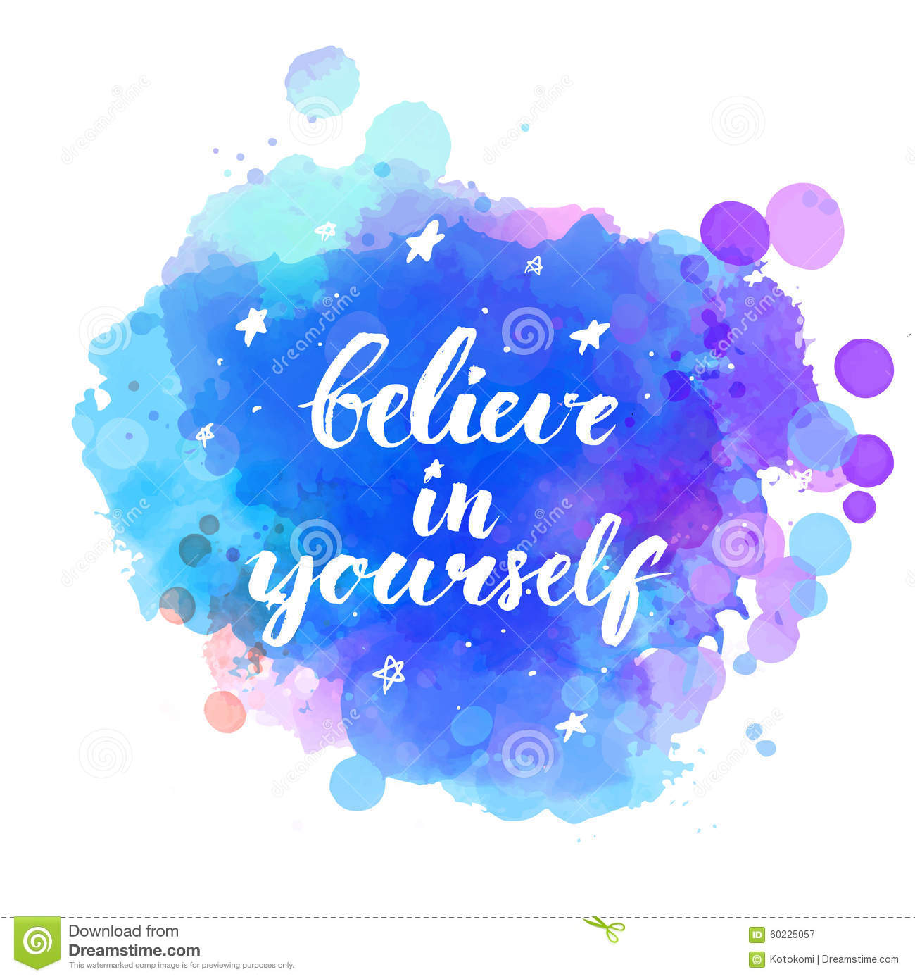 Believe In Yourself Inspirational Quote With Stock Vector Image 60225057