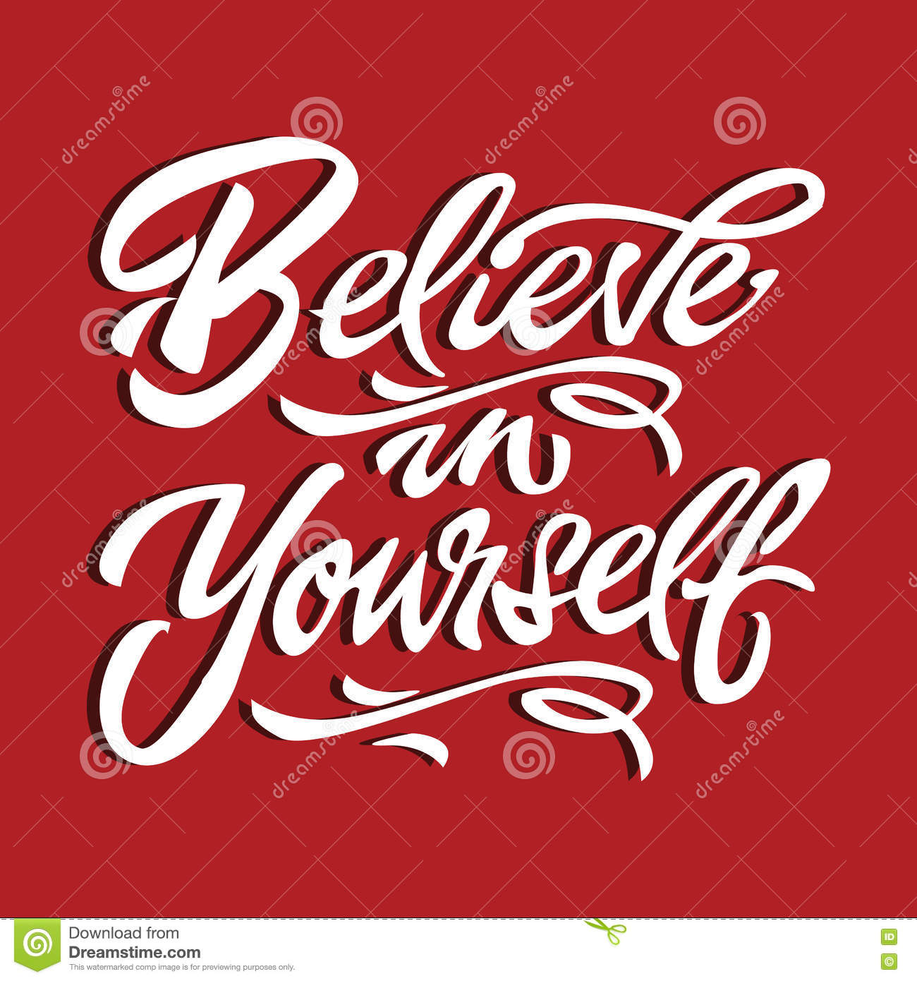 Believe In Yourself Quote Motivational Poster Typography Card