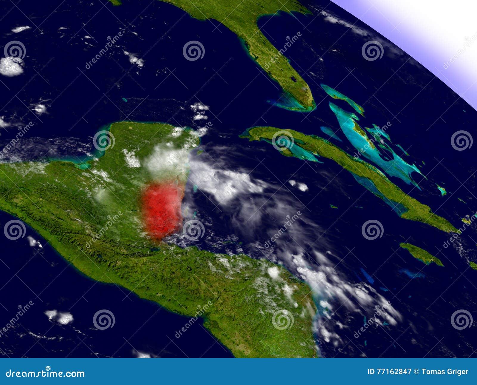 Belize de l espace accentué en rouge
