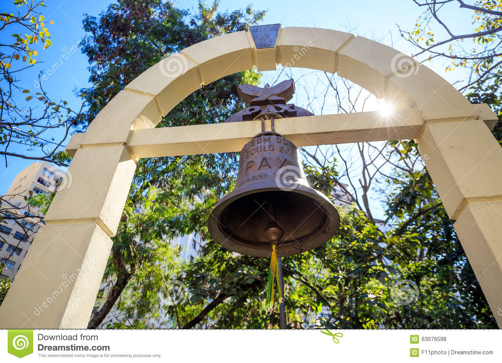 Download Bell Au Patio Font Colegio à Sao Paulo Photo stock - Image du gothique, central: 63076598