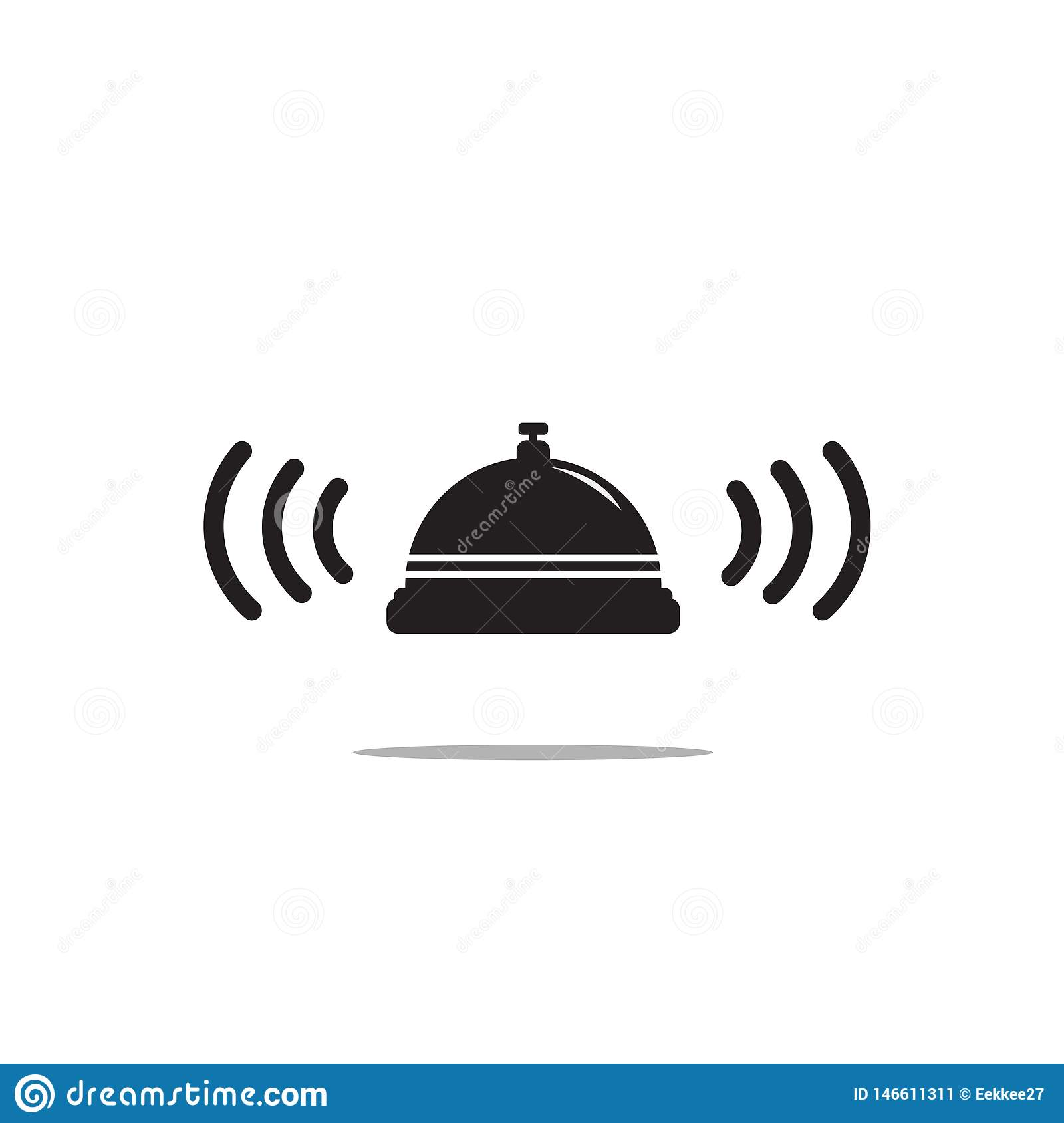 Bell icon on white background. Vector art