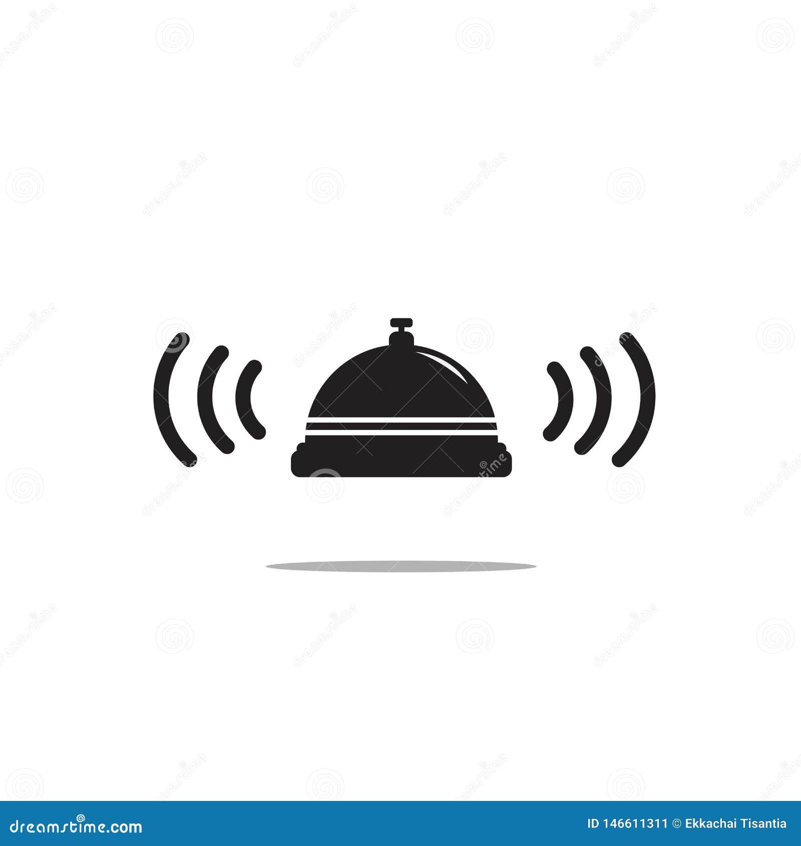 Bell-Ikone auf wei?em Hintergrund Leuchte des Vektorart
