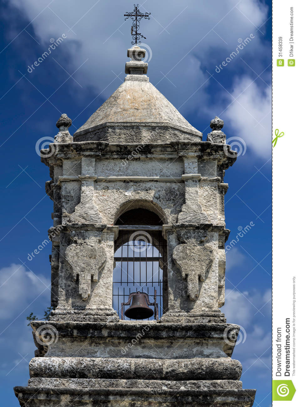 Bell Tower At Mission San Jose Royalty Free Stock Images