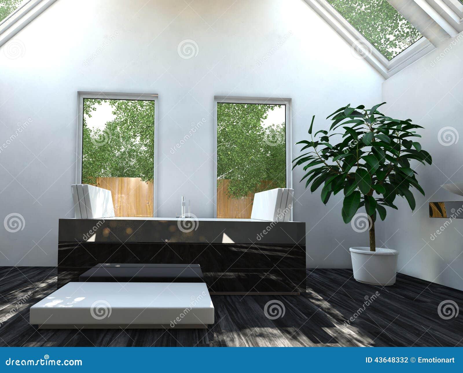 Bella area del bagno di interior design illustrazione di for Design del bagno