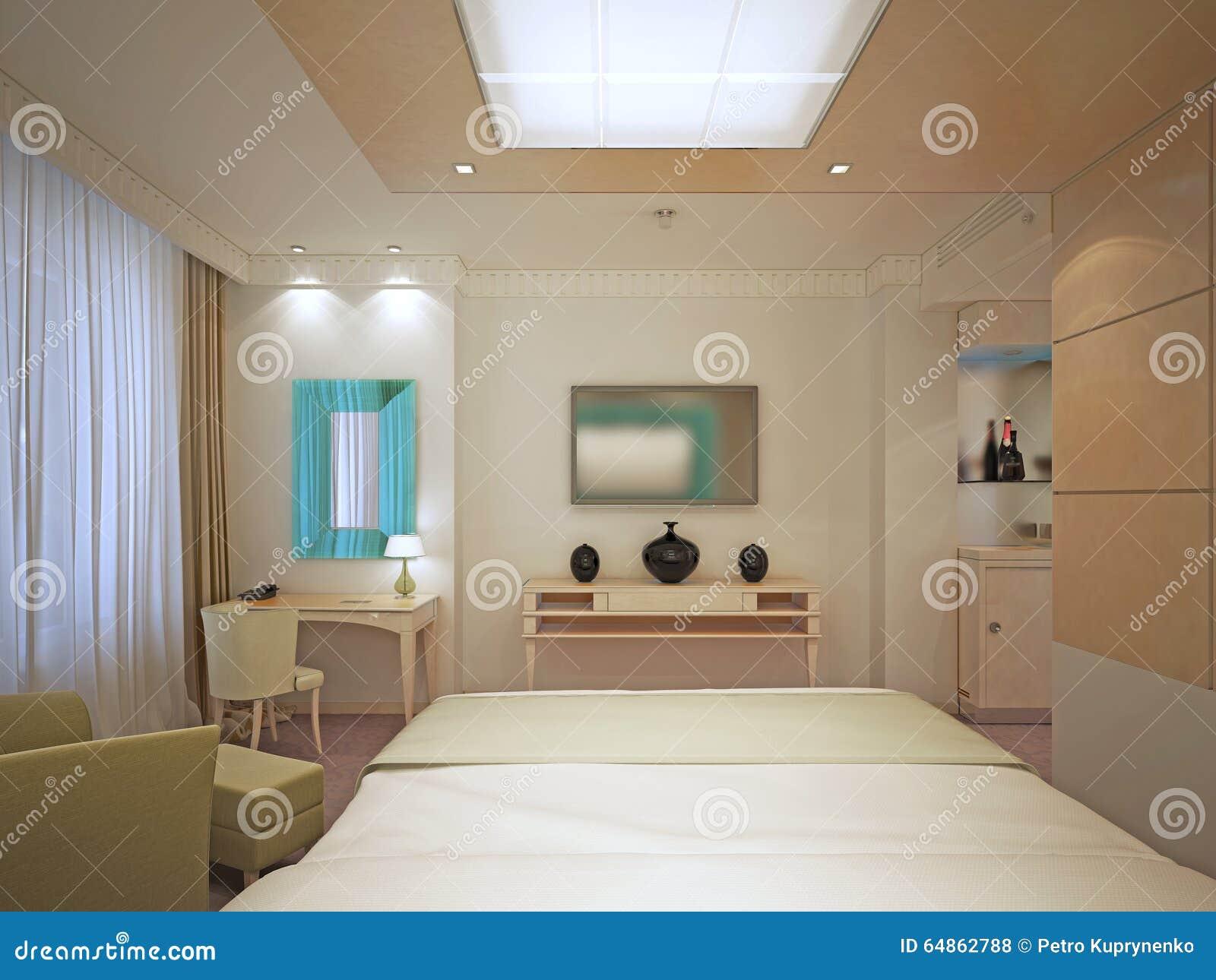 Camere Da Letto Art Deco : Bella camera da letto principale in art deco fotografia stock