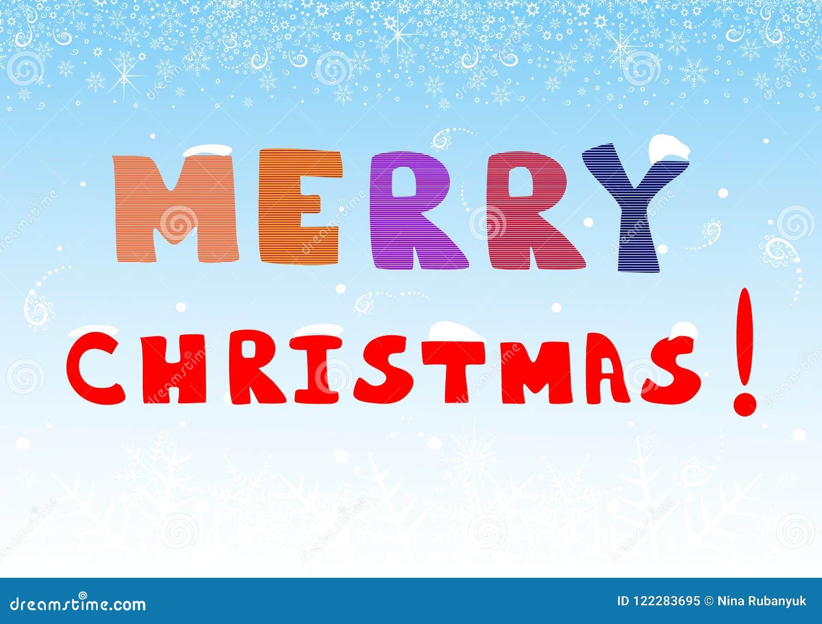 Buon Natale 883.Bella Cartolina D Auguri Di Buon Natale Illustrazione Di Vettore