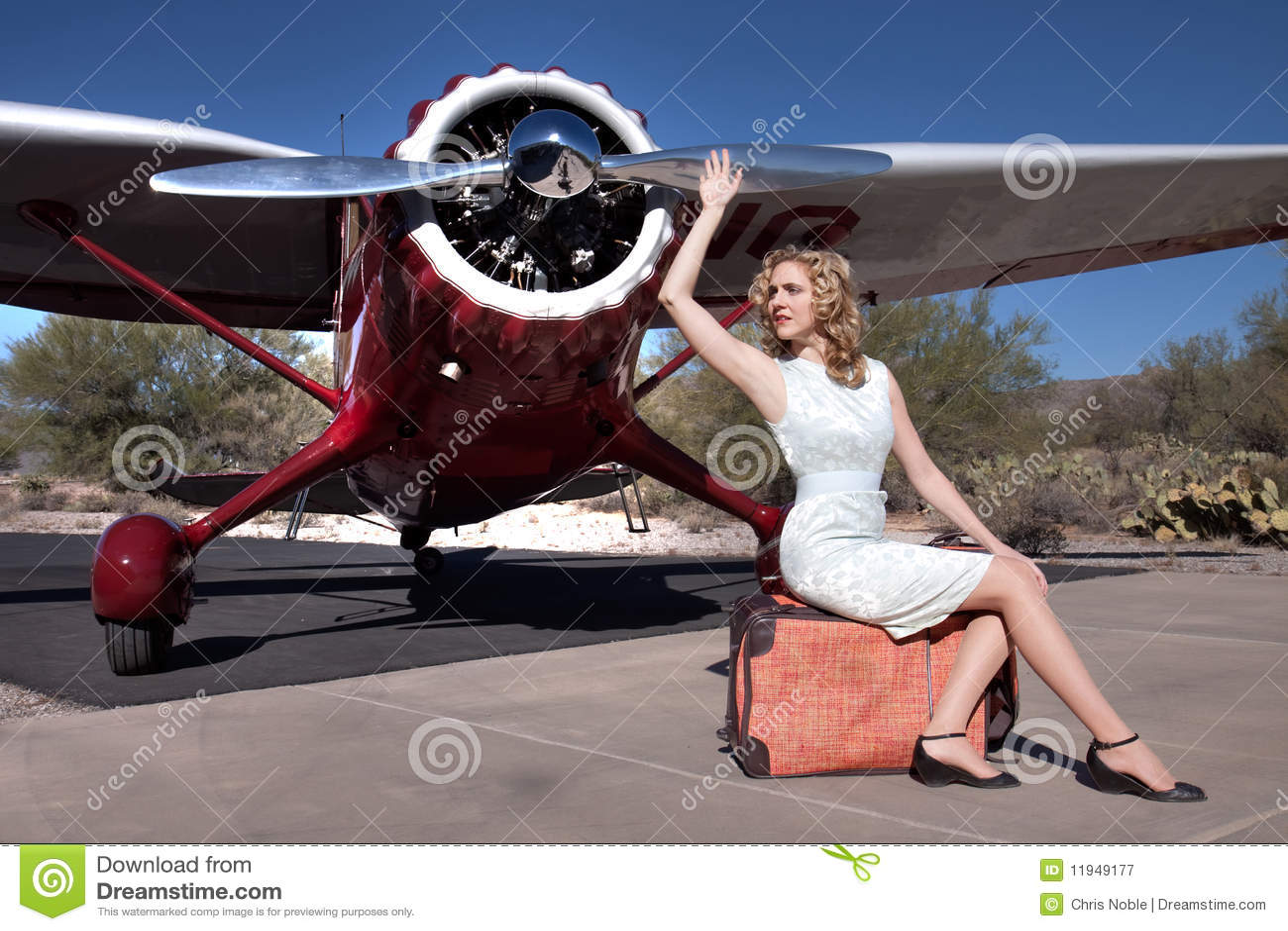 Aereo Privato Affitto : Bella donna con l aereo privato immagine stock