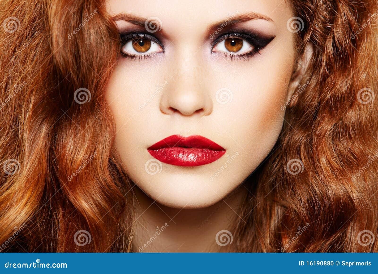 Макияж для рыжеволосых с карими глазами фото