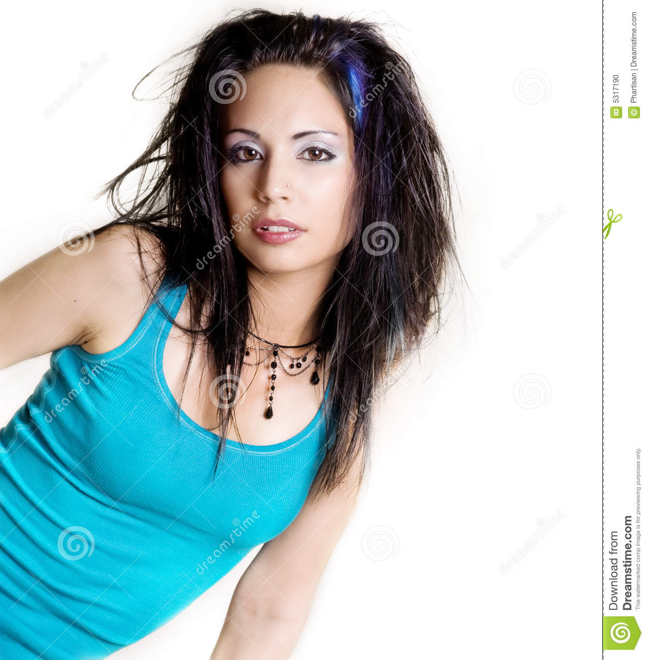 Download Bella Donna Fresca Intelligente Fotografia Stock - Immagine di flirting, femmina: 5317190