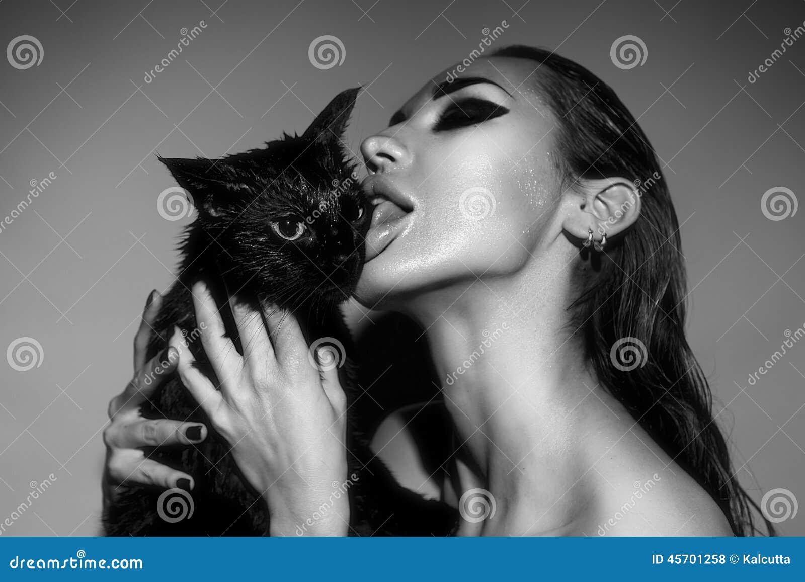 Foto di nero sexy micio