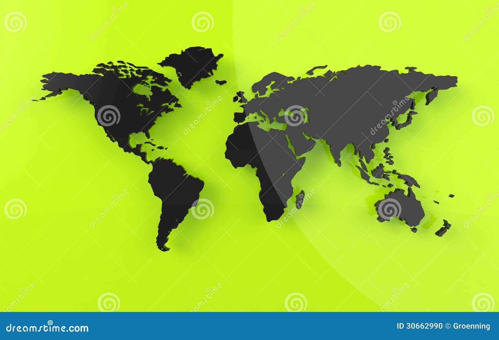 Bella mappa di mondo nello sguardo reso