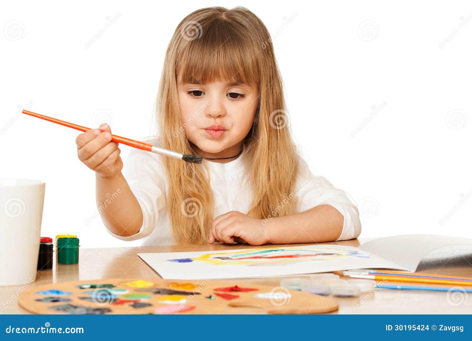 Bella pittura della bambina