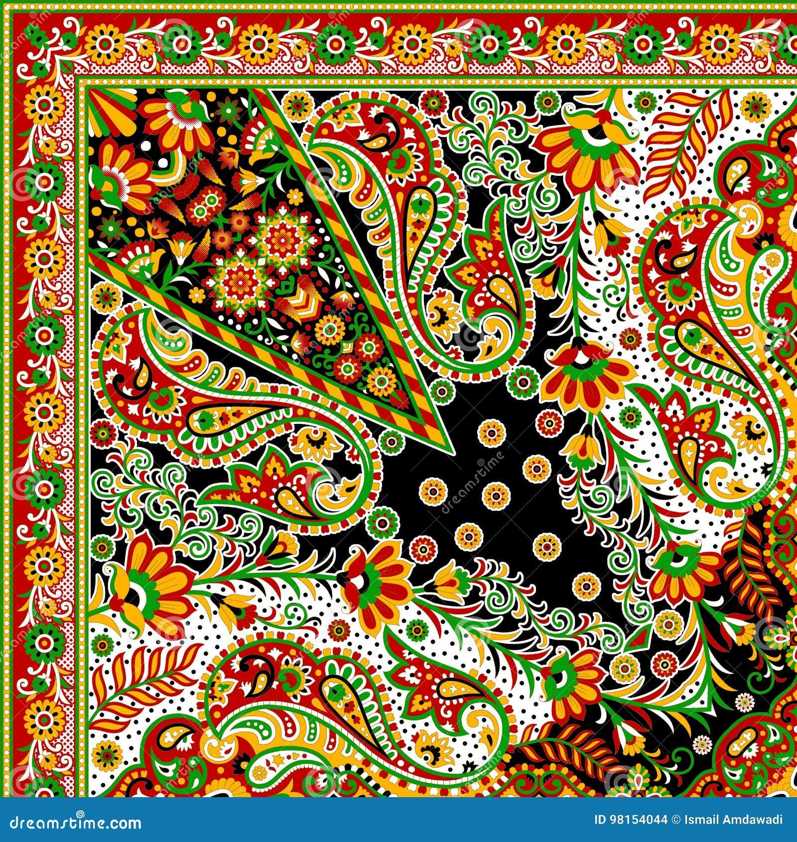 Bella progettazione variopinta della sciarpa della stampa del tessuto