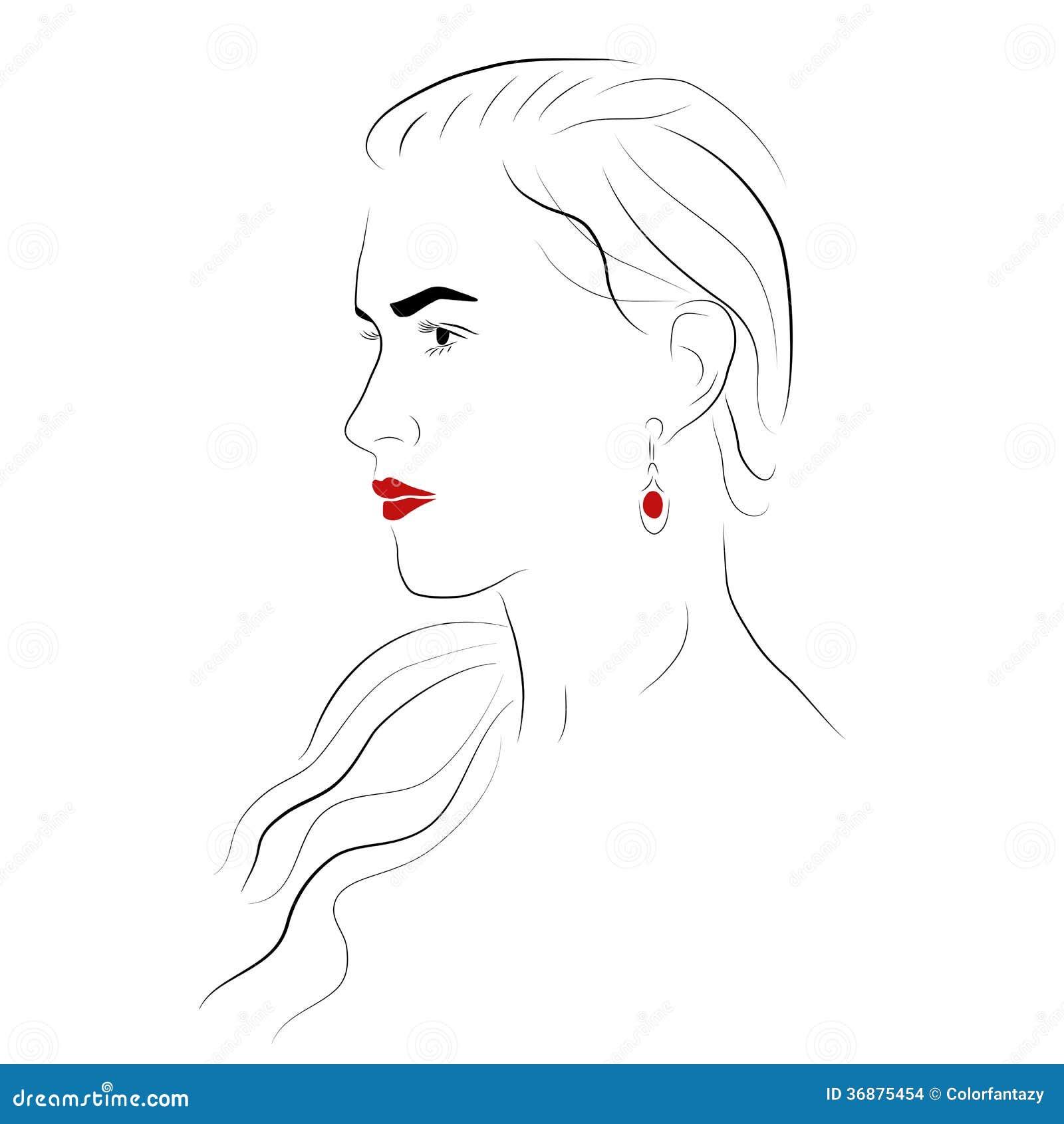 Download Bella ragazza illustrazione vettoriale. Illustrazione di orli - 36875454