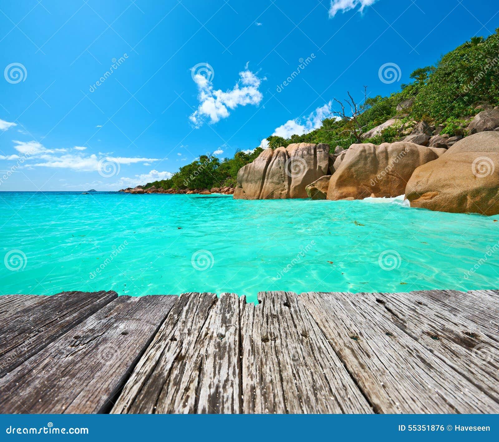 Bella spiaggia alle Seychelles