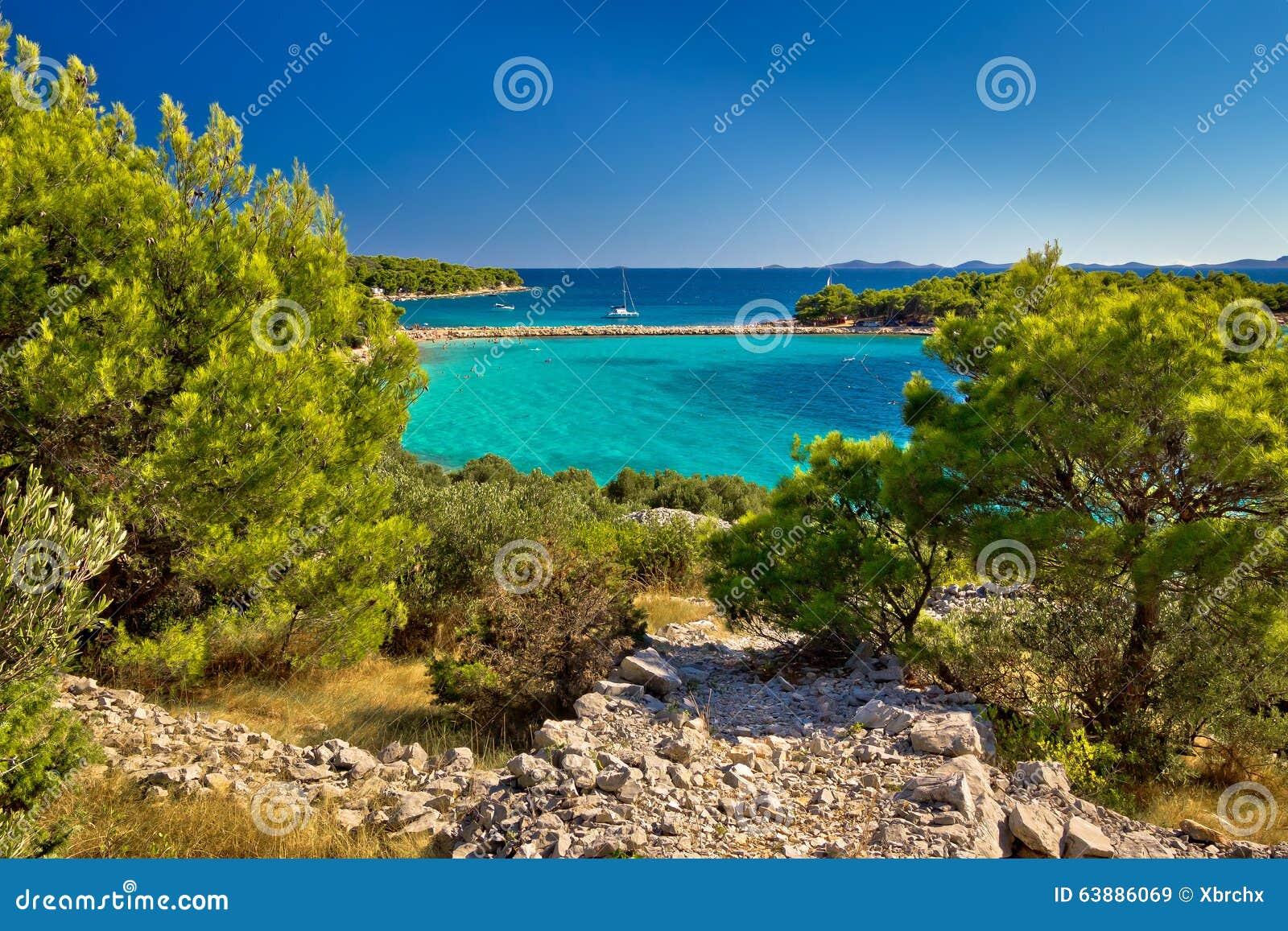 Matrimonio Spiaggia Isola Verde : Bella spiaggia verde smeraldo sull isola di murter