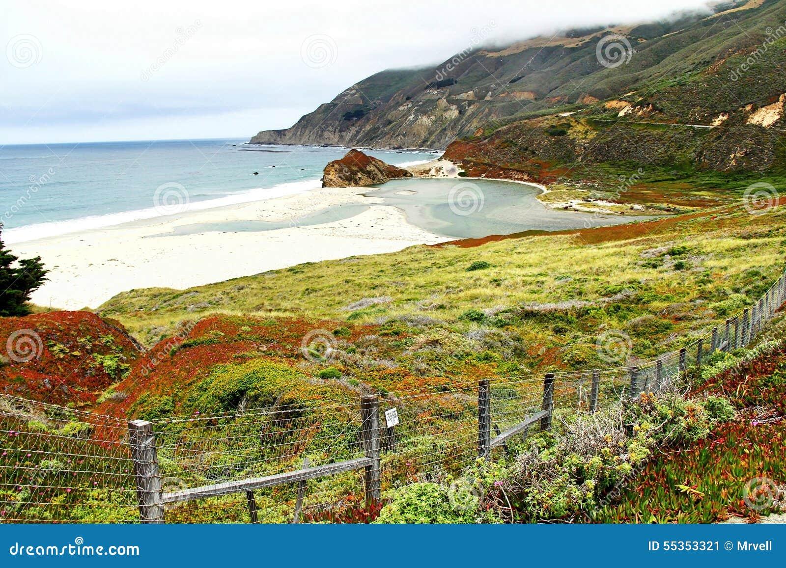 Bella vista della linea costiera da Big Sur