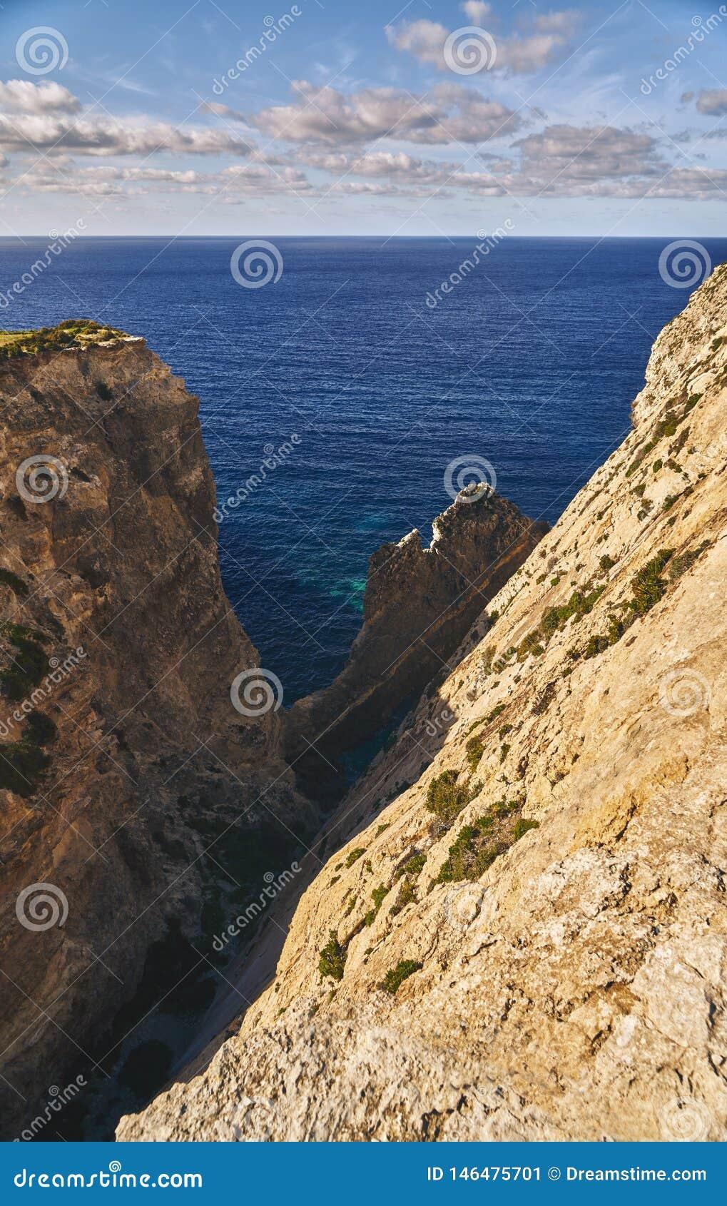 Bella vista delle rocce