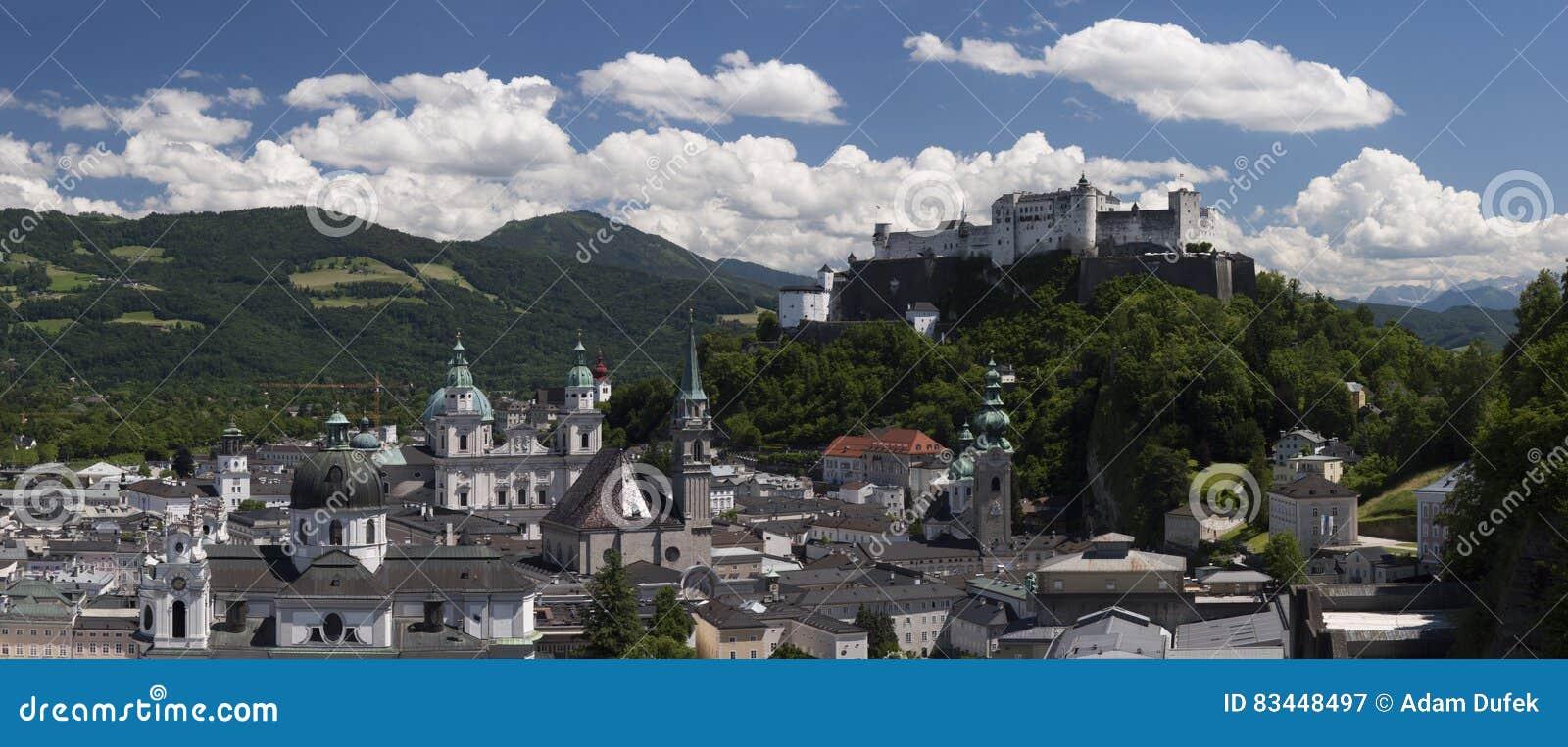 Bella vista di Salisburgo con Festung Hohensalzburg