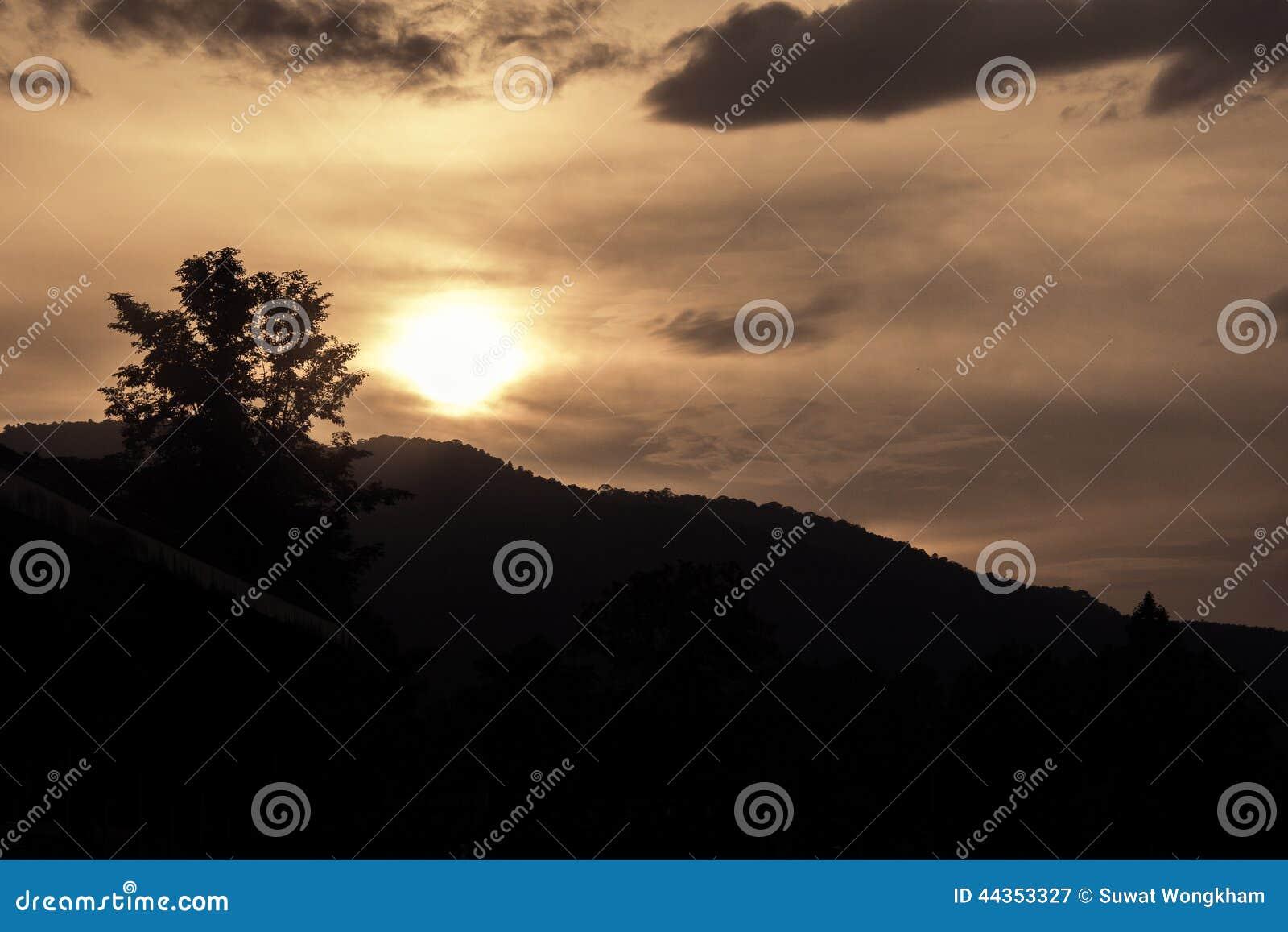 Bella vista di tramonti