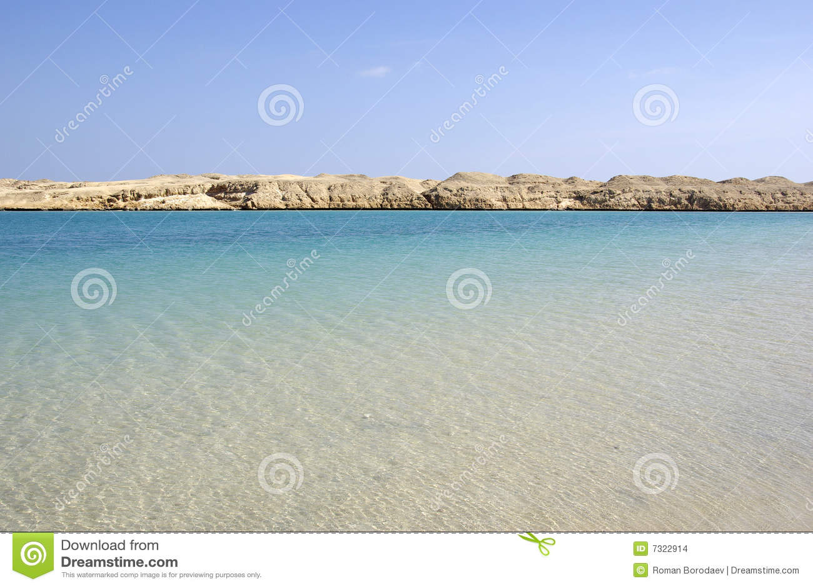 Bella vista sul mare in deserto.
