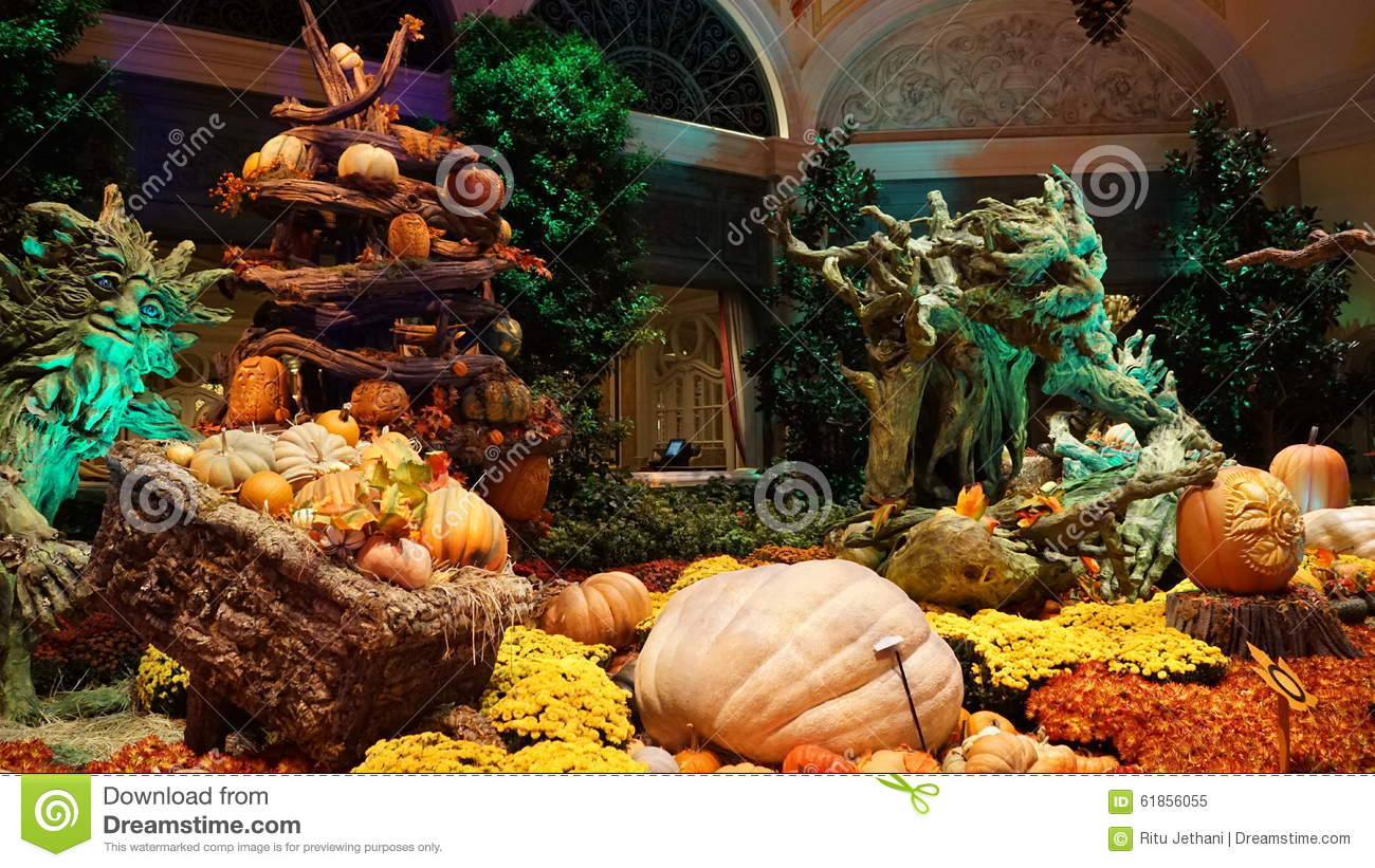 Bellagio Conservatory In Las Vegas Editorial Image - Image of fall ...