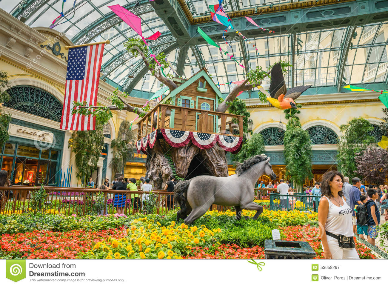 bellagio hotel and casino indoor garden editorial photography
