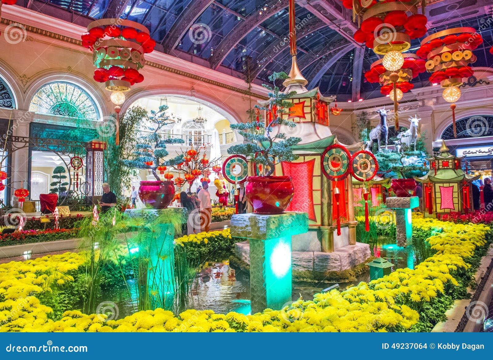 Bellagio Hotel Conservatory Botanical Gardens Editorial Stock Image Image 49237064