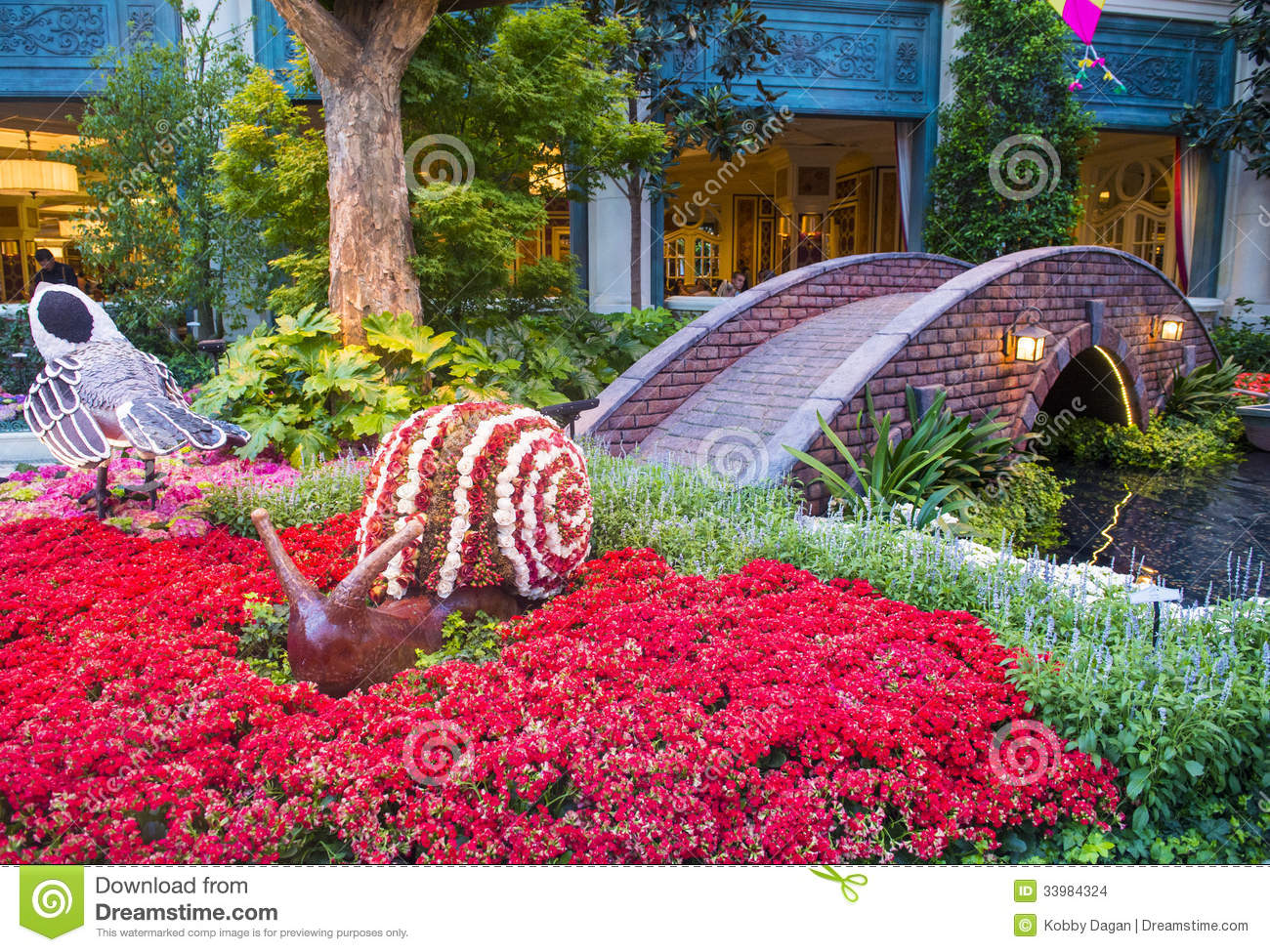 Bellagio Hotel Conservatory Botanical Gardens Editorial Stock Image Image Of Flora Annual